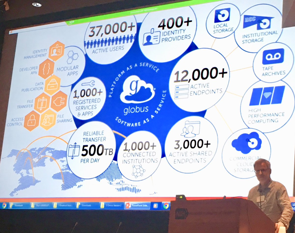 Ian Foster presents at NCI ITCR 2018